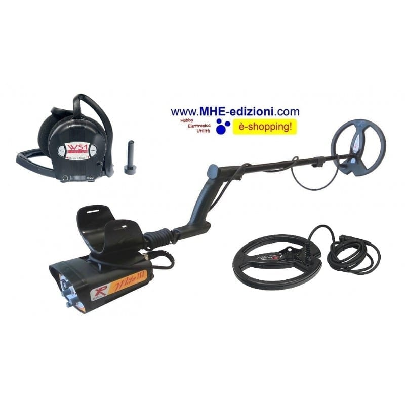Metal detector XPLORER Mito III 3 Power XP cuffie wireless piastre 22,5 e 27 cm
